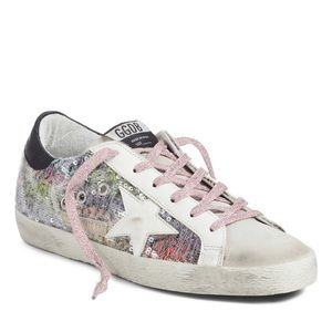 Golden Goose Superstar Rainbow Glitter Sneakers 37